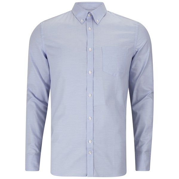 J lindeberg men 39 s dani button down stretch oxford long for Oxford long sleeve button down shirt