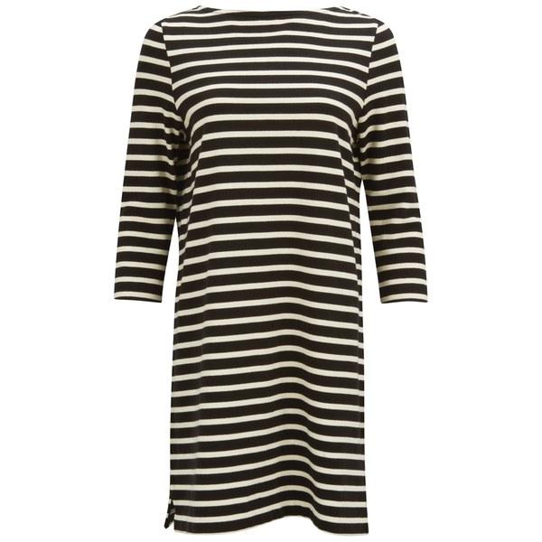 YMC Women's Breton Stripe Dress - Black/Cream