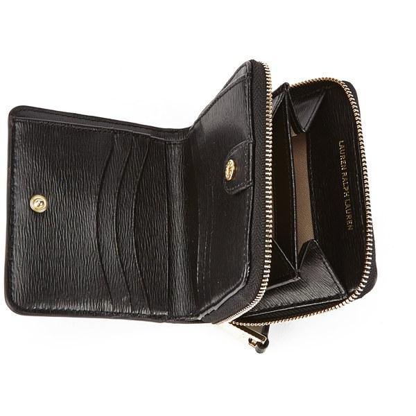 Lauren Ralph Lauren Women\u0027s Tate Compact Wallet - Black: Image 4