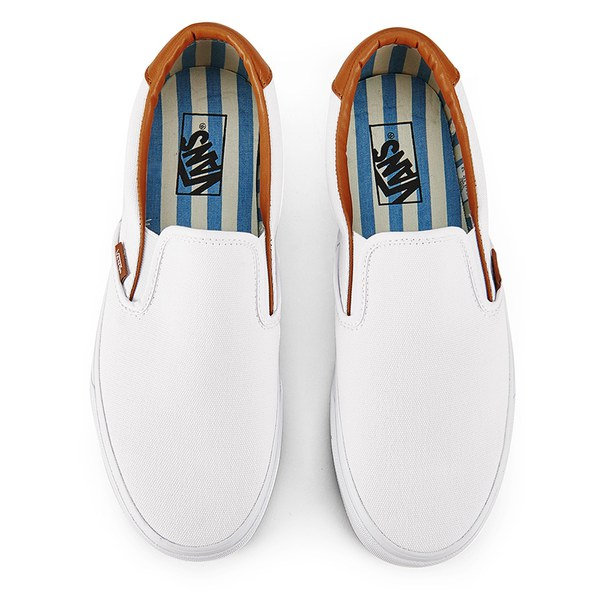 0660286ed7 Vans Men s Slip-On 59 Washed C L Trainers - True White  Image 2