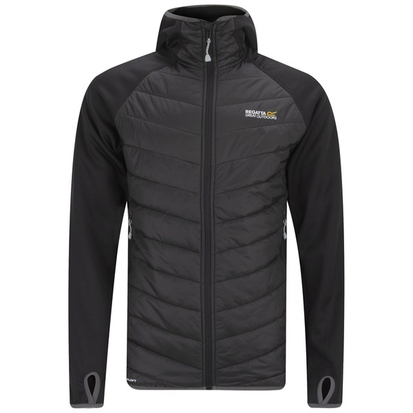 Regatta Men's Andreson Hooded Insulated Jacket - Black/Black ...