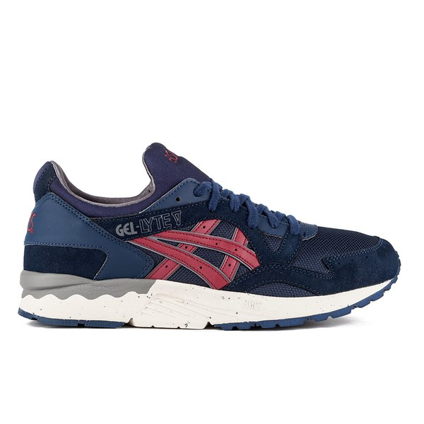 eb87a6ed88a3 Asics Lifestyle Men s Gel-Lyte V Trainers - Navy Burgundy  Image 1