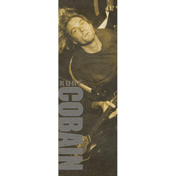Kurt Cobain Brown - Door Poster - 53 x 158cm