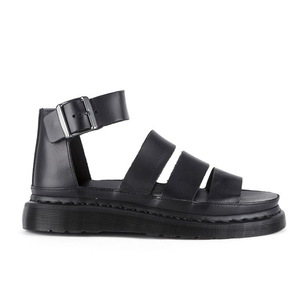 Dr. Martens Women's Shore Clarissa Chunky Strap Leather Sandals - Black Brando