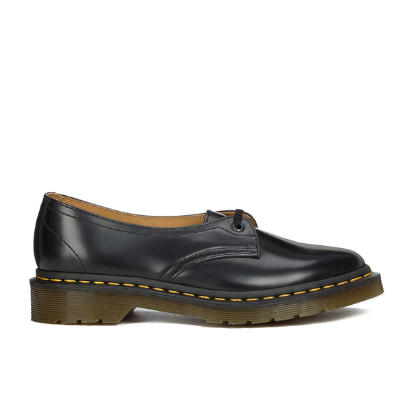 Dr. Martens Women's Core Siano 1-Eye Leather Shoes - Black Polished Smooth: