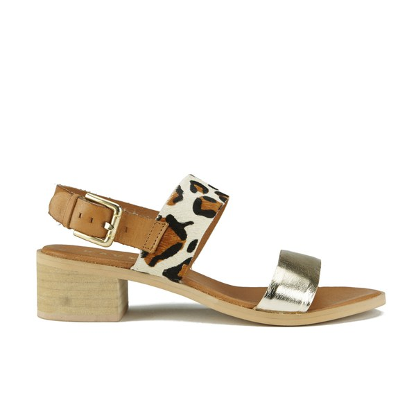 f868b2aa76a Ravel Women s Columbus Double Strap Mid Heeled Sandals - Leopard  Image 1