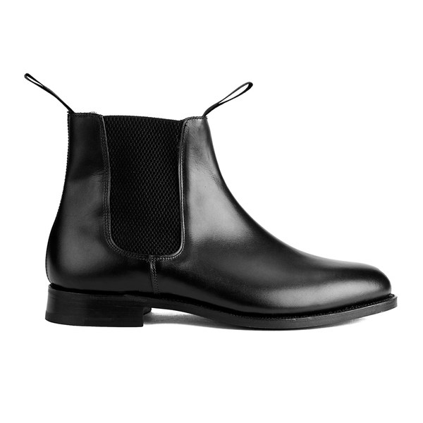 Tricker's Men's Game Leather Elastic Insert Chelsea Boots - Black
