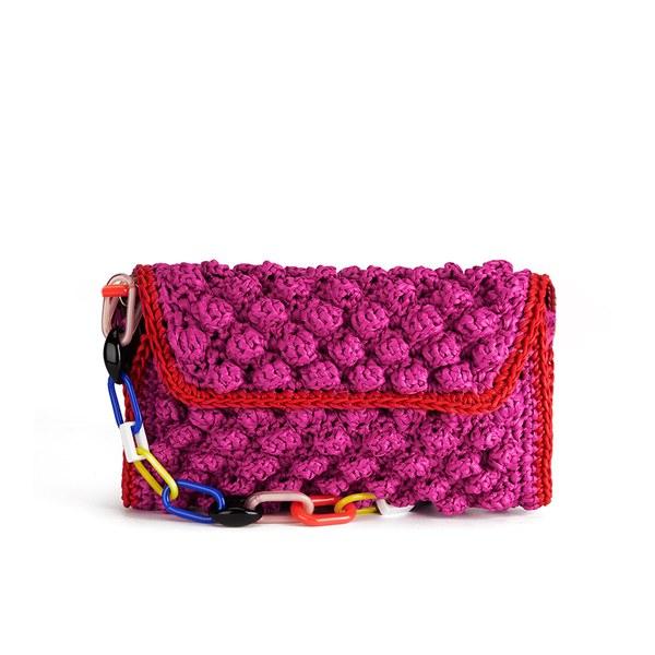d7785e3860f4 M Missoni Women s Raffia Shoulder Bag - Pink  Image 1