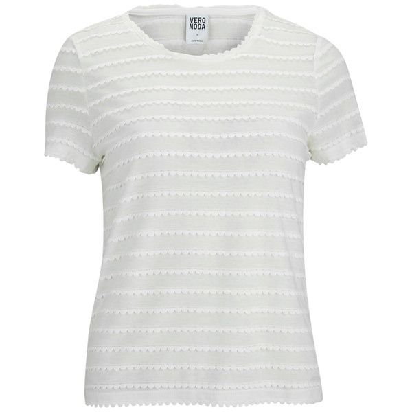 Vero Moda Women's Camil T-Shirt - Snow White