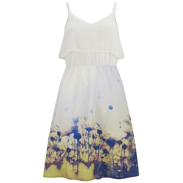 Vero Moda Women's Daisy Floral Dress - Yellow Daisy