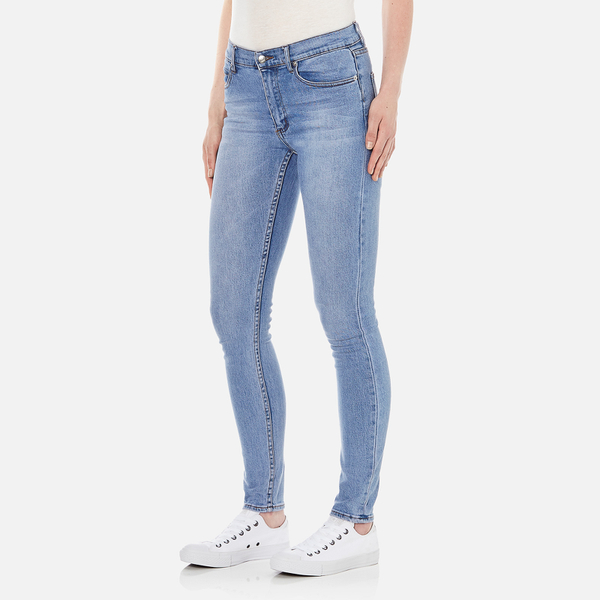 Womens Second Skin Stonewash Blue Skinny Jeans Cheap Monday Lkmqzu7