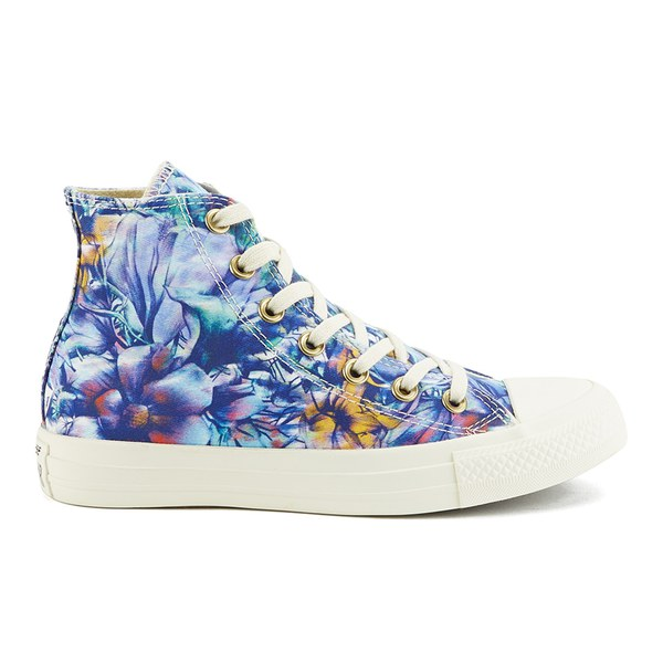 b11aeee5cb6329 Converse Women s Chuck Taylor All Star Floral Print Hi-Top Canvas Trainers  - Peacock Multi