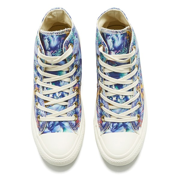 a7c03cad5c3c Converse Women s Chuck Taylor All Star Floral Print Hi-Top Canvas Trainers  - Peacock Multi