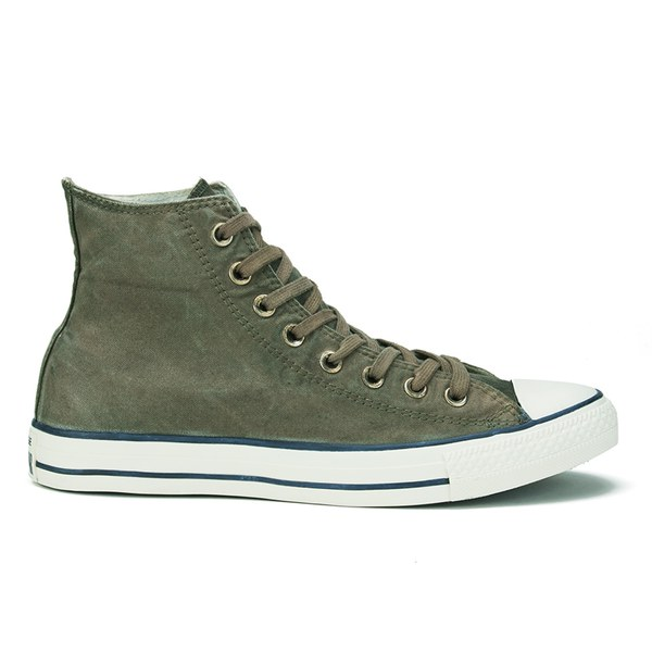 066d7649bba4 Converse Men s Chuck Taylor All Star Better Wash Hi-Top Canvas Trainers -  Surplus Green