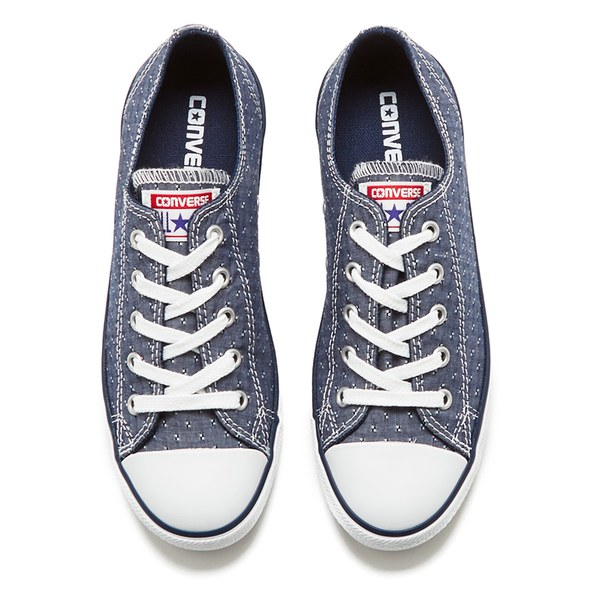 Converse Women s Chuck Taylor All Star Dainty Chambray Canvas Trainers -  Navy  Image 2 a4f762c5c