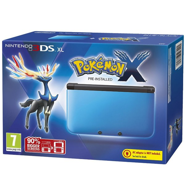 nintendo 3ds xl blue and black console includes pokemon x iwoot. Black Bedroom Furniture Sets. Home Design Ideas