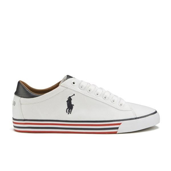 Polo Ralph Lauren Men's Harvey Ne Low Top Trainers - Pure White/Newport Navy