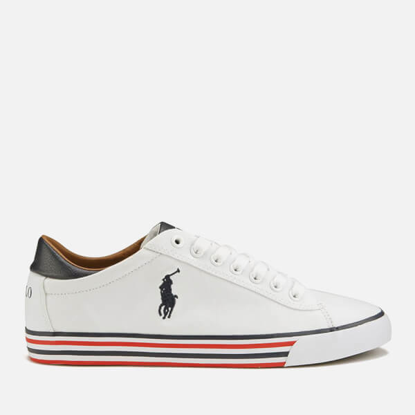 Polo Ralph Lauren Men's Harvey-Ne Canvas Trainers - Pure White/Newport Navy: