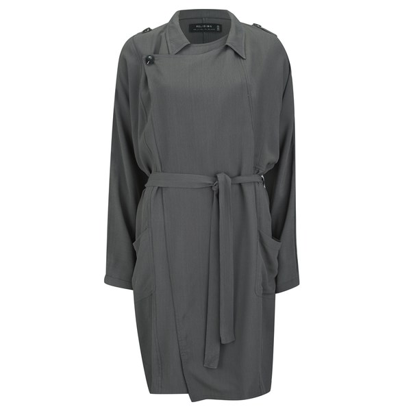 Religion Women's Devoted Trench Coat - Grey