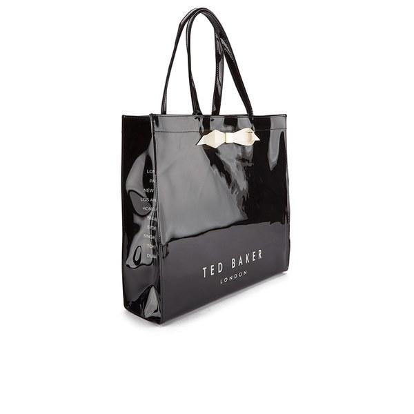 Ted Baker Women s Tedcon Plain Bow Icon Tote Bag - Black  Image 2 d09cbe3869bcb