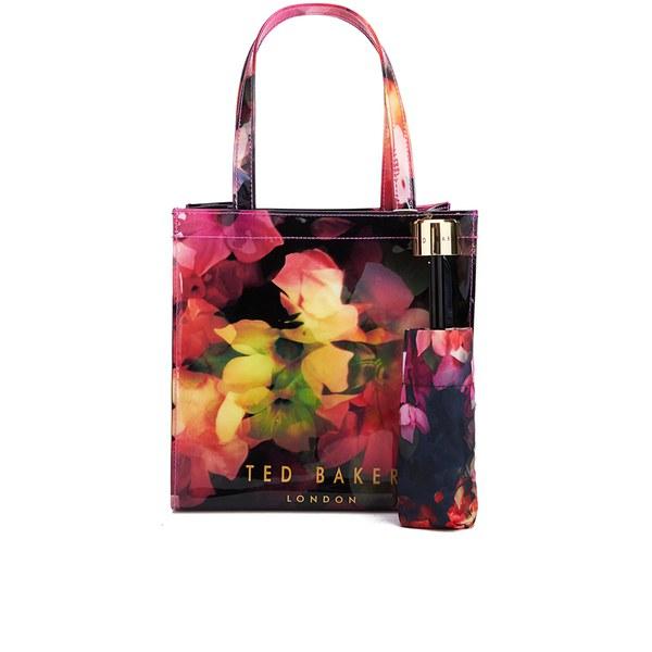 7cffea9871879 Ted Baker Women s Feltici Cascading Floral Umbrella Ikon Tote Bag - Black   Image 1