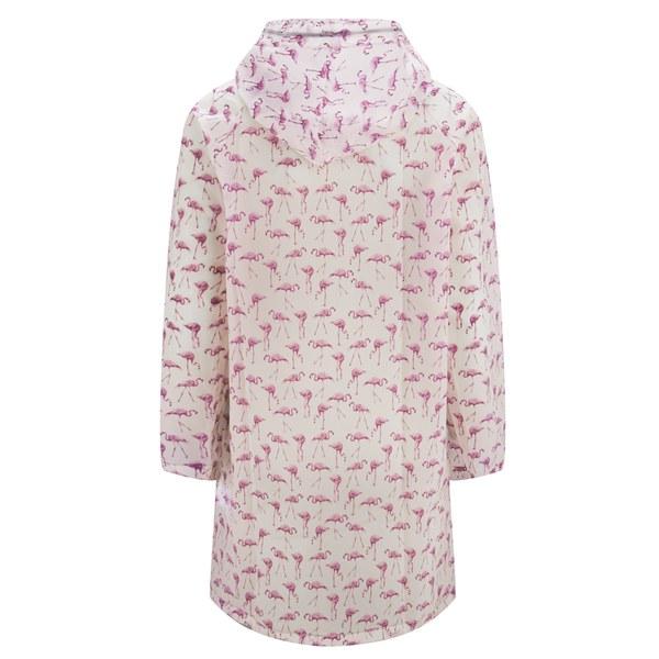 Only Women S Marble Flamingo Print Rain Mac Bubblegum