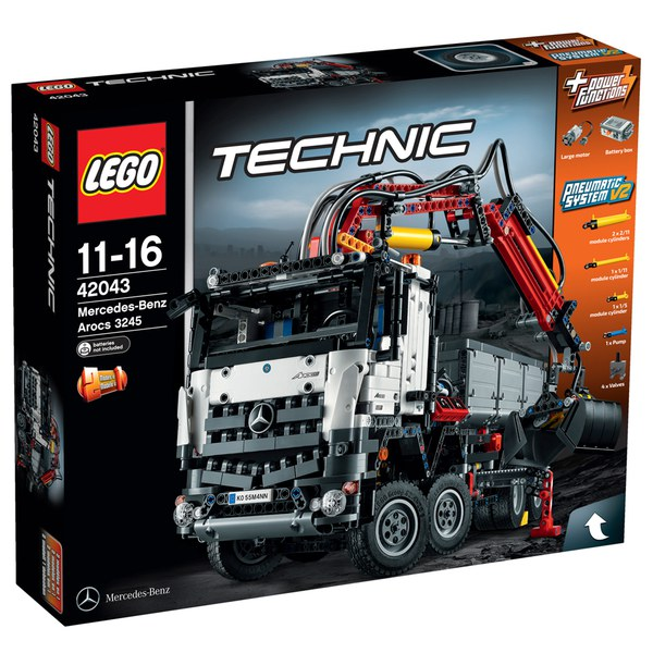 lego technic mercedes benz arocs 3245 42043 toys. Black Bedroom Furniture Sets. Home Design Ideas