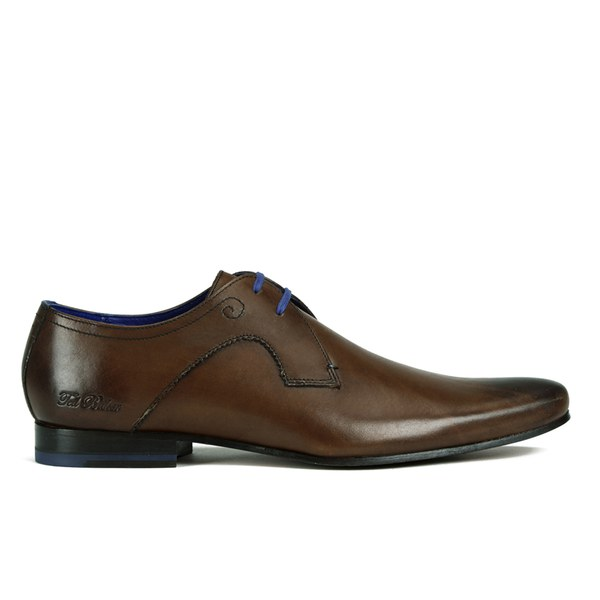 Ted Baker Mens Martt Leather Derby Shoes  Brown Image 1