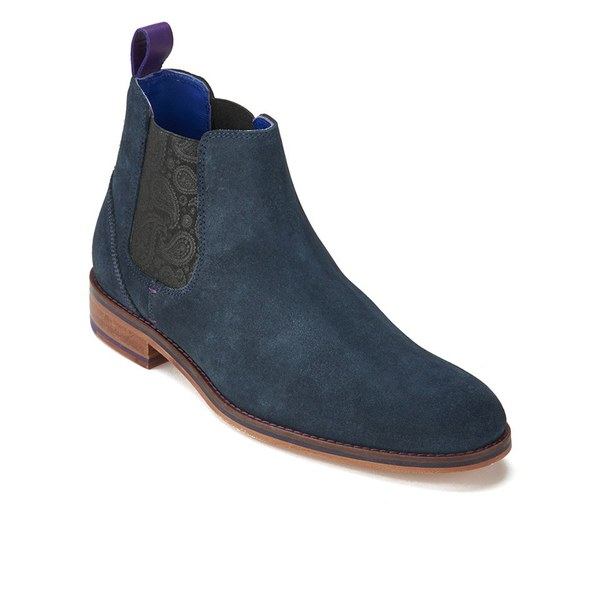 8eb03f55a Ted Baker Men s Camroon 2 Suede Chelsea Boots - Dark Blue  Image 5