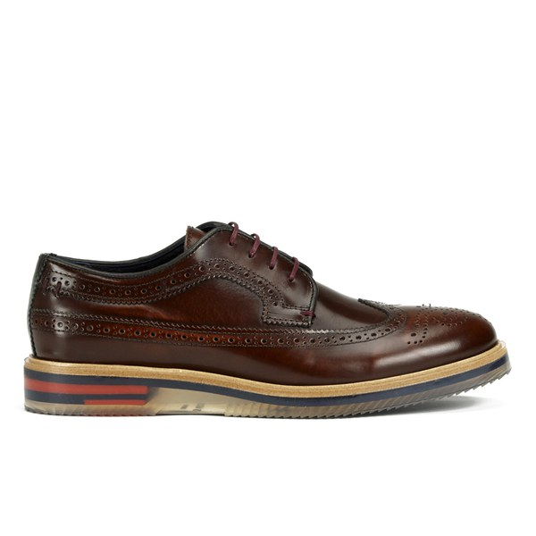 3faf1b035890b8 Ted Baker Men s Brundll High Shine Leather Brogue Shoes - Brown  Image 1