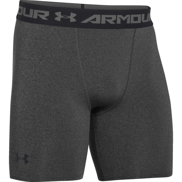 Under Armour Men's Armour HeatGear Compression Training Shorts - Carbon Heather/Black