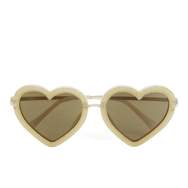 Markus Lupfer Women's Glitter Heart Sunglasses - Gold