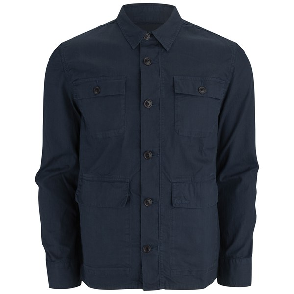 Barbour Men S Marshall Overshirt Navy Free Uk Delivery