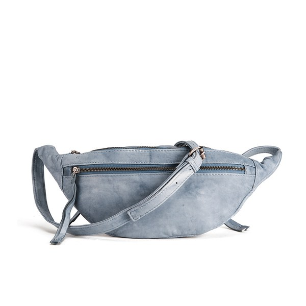 BeckSöndergaard Women's Belly Edge Leather Bum Bag - Washed Denim ...