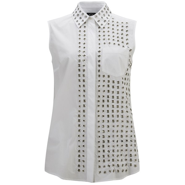 McQ Alexander McQueen Women's Eyelet Sleeveless Shirt - White