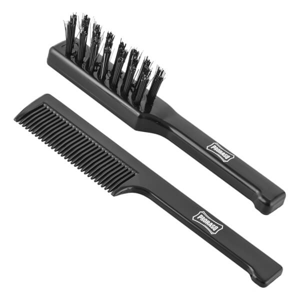 Proraso Moustache Comb and Beard Brush Set