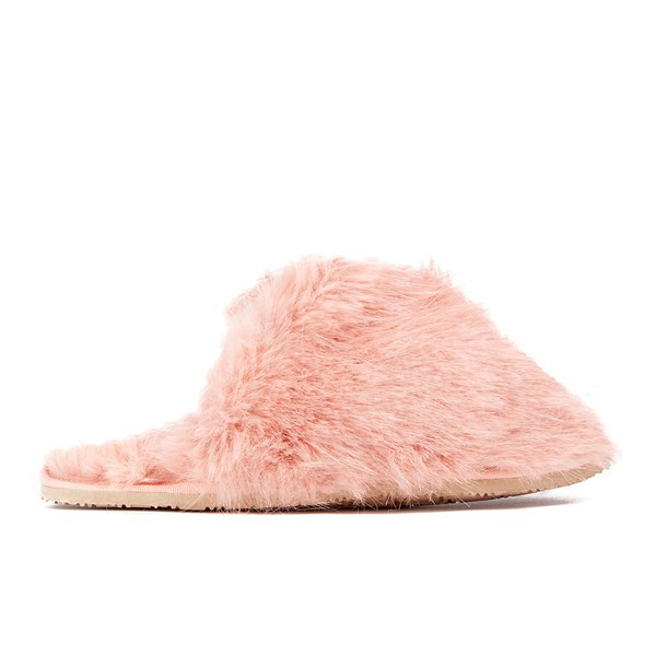 d67c4aeb44eb Ted Baker Women s Breae Fluffy Slippers - Light Pink Fux Fur  Image 1