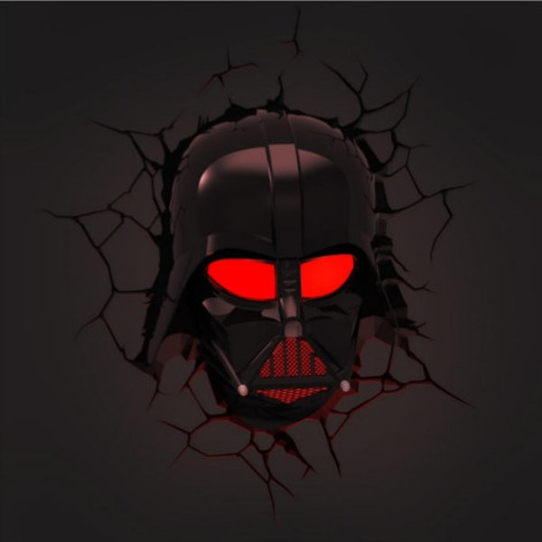 star wars darth vader 3d wall light merchandise zavvi. Black Bedroom Furniture Sets. Home Design Ideas