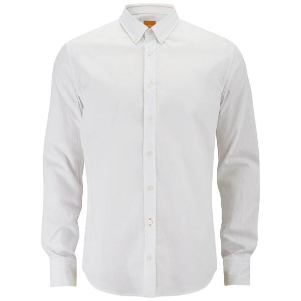 BOSS Orange Men's Edipoe Long Sleeve Shirt - White