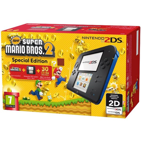 Nintendo 2DS Blue/Black + New Super Mario Bros 2