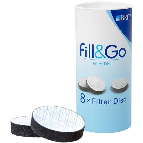 BRITA Fill & Go Disques filtrants 8 pièces