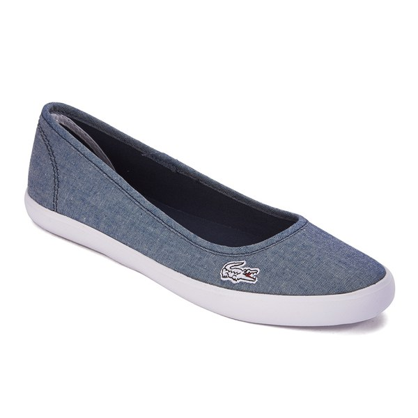 bfeab2bd9958f6 Lacoste Women s Marthe Lin Chambray Pumps - Dark Blue Womens ...