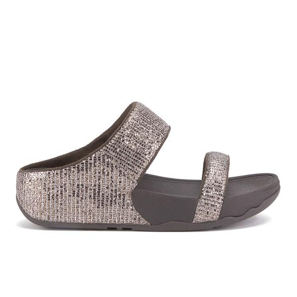 4ee50450fa26 FitFlop Women s Lulu Superglitz Slide Sandals - Bronze  Image 1