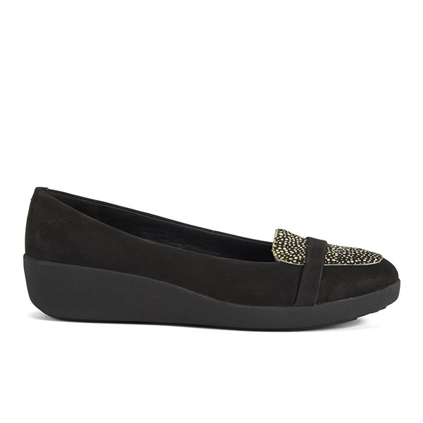 2ff47cfa5 FF2 by FitFlop Women s F-Pop Pony Hair Slip On Loafers - Black Mix ...