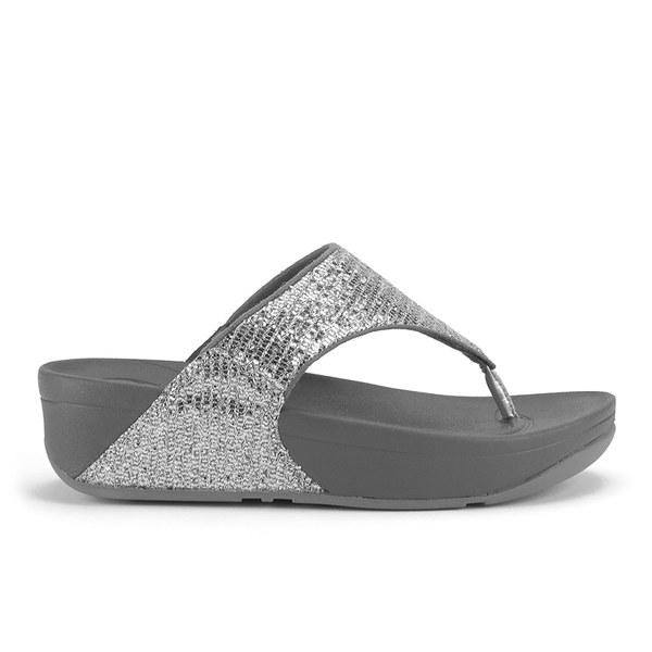 a6a0173356d4 FitFlop Women s Lulu Superglitz Flip Flop Sandals - Silver  Image 1
