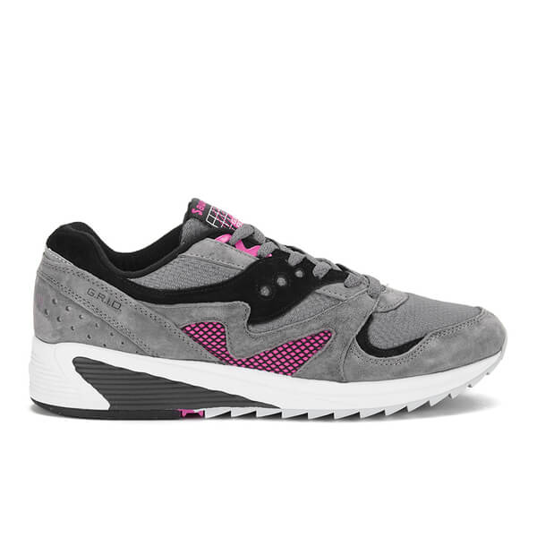 Saucony Men's Grid 8000 Premium Trainers - Charcoal/Dark Grey