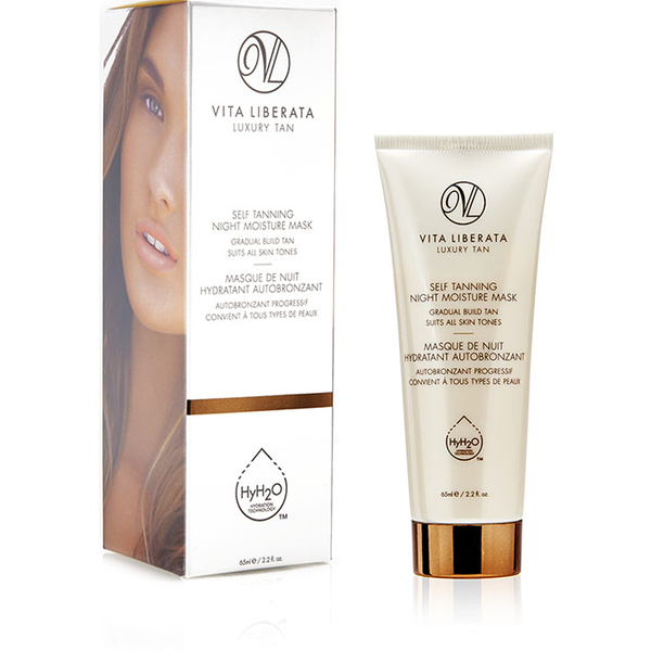 masque hydratant auto bronzant pour la nuit de vita liberata 65ml livraison internationale. Black Bedroom Furniture Sets. Home Design Ideas
