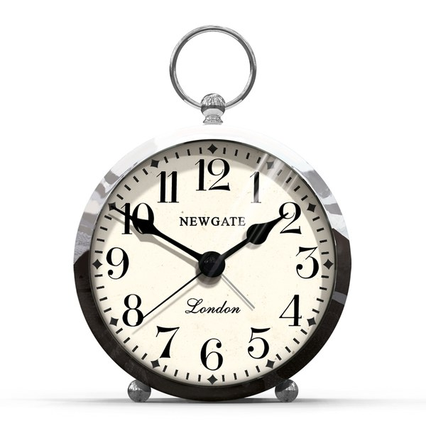 Newgate Gents Alarm Clock - Chrome