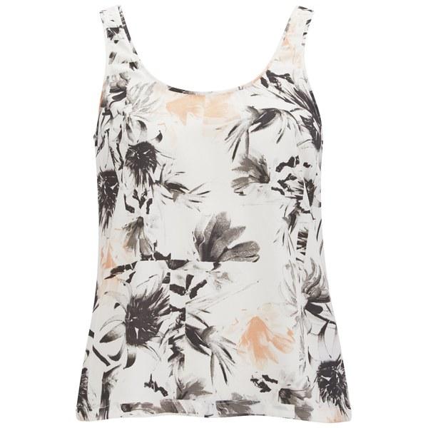 Vero Moda Women's Kylie Floral Vest Top - Tropical Peach