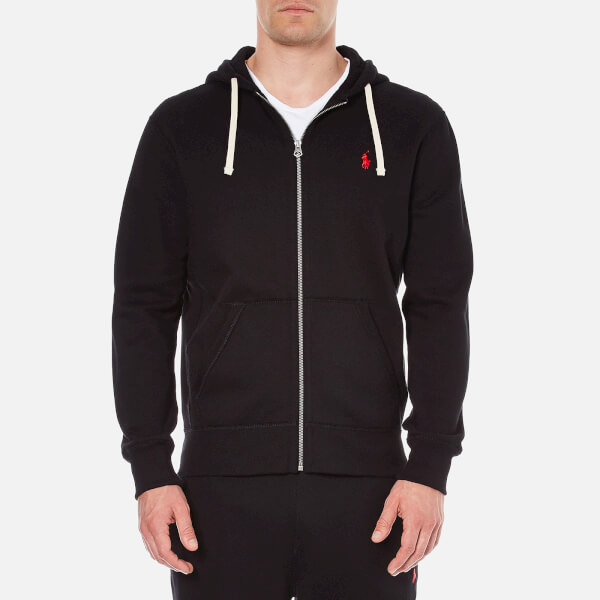 Polo Ralph Lauren Men's Zip Through Hooded Athletic Fleece - Polo Black